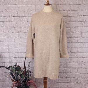 ASOS Crew Neck Long Sleeve Chunky Sweater Dress